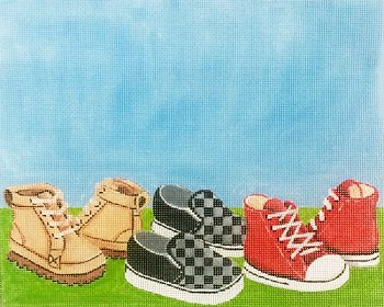 AP3713 BOYS SHOES BIRTH ANNOUNCEMENT by Alice Peterson
