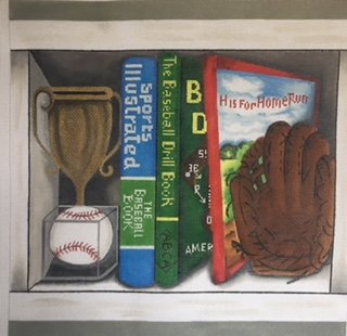 BASEBALL BOOK NOOK by Alice Peterson STITCH GUIDE AP4003