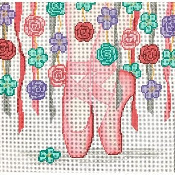 AP4060 BALLET SLIPPERS with FLOWERS by Alice Peterson