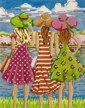 AP4149 THREE GIRLS IN SPRING by Alice Peterson