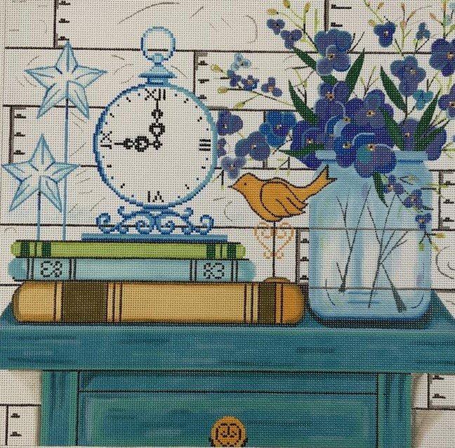 AP4270 TURQUOISE TABLE TOP by ALICE PETERSON