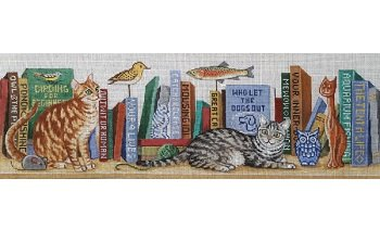 AP2982 CATS MEOW BOOK SHELF by Alice Peterson