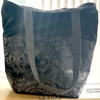 Charcoal Large Bucket Bag by Atenti Atenti B99