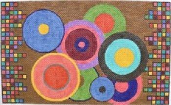 AWP 851B COLORFUL CIRCLES MEDIUM PILLOW by Ann Wheat Pace