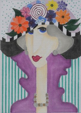 BB84 LADY with FLOWER HAT by SALLY BAER