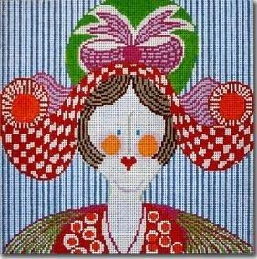LADY WITH HAT by CBK Needlepoint STITCH GUIDE CBKJJMPL17sg
