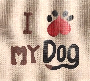 CBKLMSS07-I LUV MY DOG by CBK NEEDLEPOINT