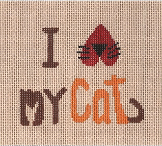 CBKLMSS08-I LUV MY CAT by CBK NEEDLEPOINT