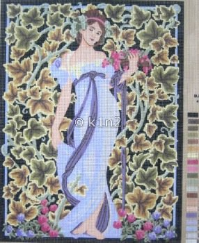 CDA10300-Lady with Lavender Dress by Collection d'Art