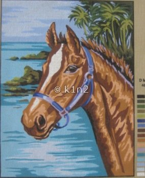 CDA10322-HORSE AT THE OCEAN by Collection d'Art