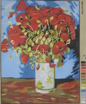 CDA10386-POPPIES IN VASE Adapted by Collection d'Art