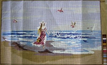 CDA12926-GIRL ON THE BEACH by Collection d'Art