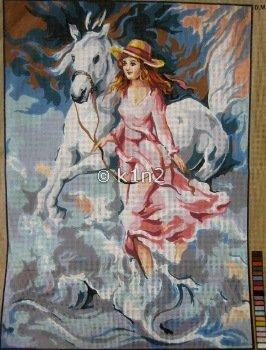 CDA12954-LADY WITH HORSE by Collection d'Art