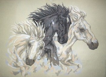 CDA12961-THREE HORSES by Collection d'Art