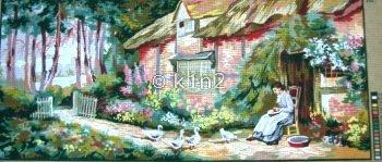 CDA13973-LADY FEEDING DUCKS STRACHEN by Collection d'Art
