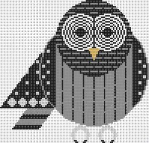 BARRED OWL by Charley Harper STITCH GUIDE-CH116s