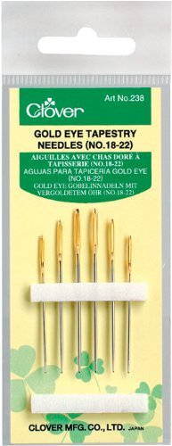 CLOVER GOLD EYE TAPESTRY NEEDLES 18-22-CL238Asst