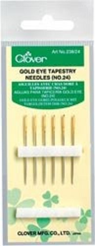 CLOVER GOLD EYE TAPESTRY NEEDLES 24-CL23824