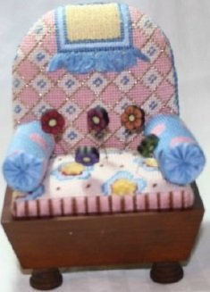 CSSP2 BLUE PINCUSHION CHAIR KIT by Cheryl Schaeffer