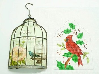 CSAC06 CARDINAL with BIRDCAGE KIT by Cheryl Schaeffer