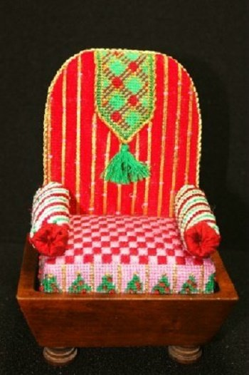 CSSP4 SANTA'S PINCUSHION CHAIR KIT by Cheryl Schaeffer