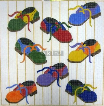 DRKC389-BOYS SHOES PRIMARY COLORS BY DEE ROSS