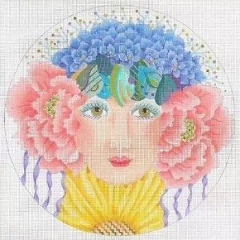 Dede17148 FLOWER GIRL SPRING by Dede Needleworks
