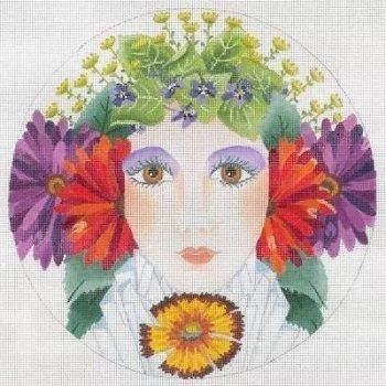 Dede17149 FLOWER GIRL SUMMER by Dede Needleworks
