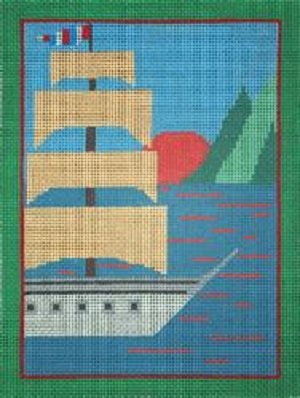 CBKEG11503-10 SAILING SHIP by Edie and Ginger