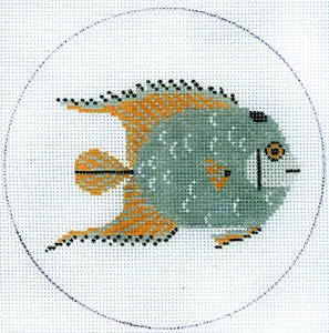 TRGCH35 FISH GREY AND YELLOW by Charley Harper