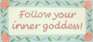 ETCS137-Follow Your Inner Goddess Sign by Elizabeth Turner