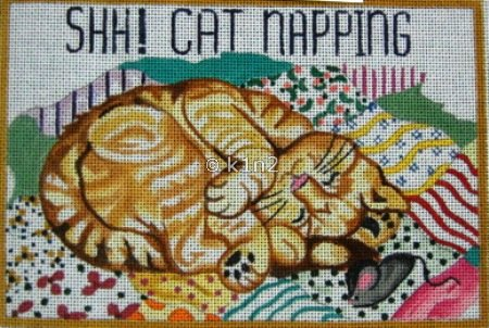 ETS40-SHHHHH CAT NAPPING BY ELIZABETH TURNER
