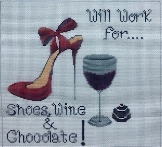 FS13 WILL WORK FOR SHOES WINE & CHOCOLATE by Funda Scully