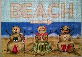 GEP211 SAND PEOPLE BEACH by Gayla Elliott
