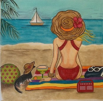 GEP271 Girl at the Beach by Gayla Elliott