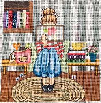 STITCHING GIRL by Gayla Eliot  STITCH GUIDE GEP274sg