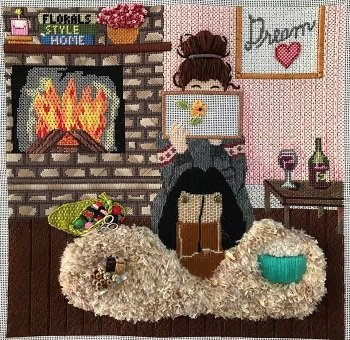 WINTER STITCHING GIRL by Gayla Eliot STITCH GUIDE GEP288sg