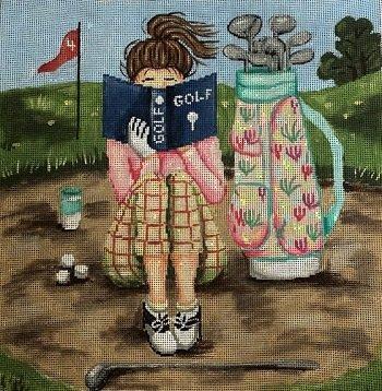 GEP290 Golf Stitching Girl by Gayla Elliott
