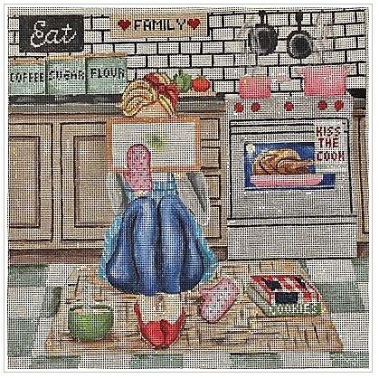 GEP305 Stitching Girl Kitchen by Gayla Elliott