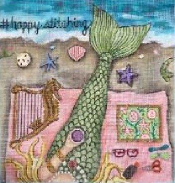 GEP314 Happy Stitching Mermaid by Gayla Elliott