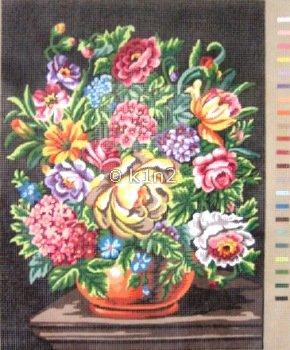Orange Urn with Flowers by Gobelin-GOB40113