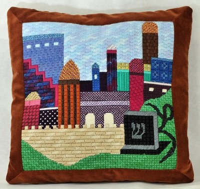 GS104 JERUSALEM TEFILLIN BAG by Gone Stitching