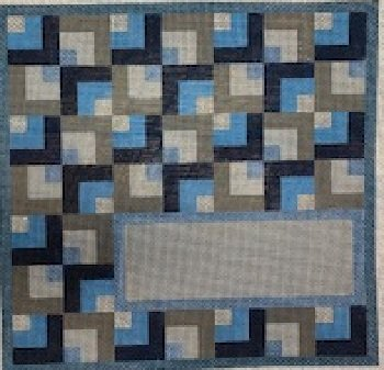 BLUE GREY INTERLOCING SQUARES TEFILLIN by Gone Stitching STITCH GUIDE GSRG209sg