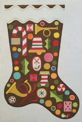 GINGERBREAD STOCKING by Raymond Crawford STITCH GUIDE RCHO1186sg