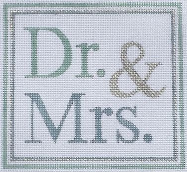 DR. AND MRS. by Raymond Crawford RCHO1316sg Stitch Guide
