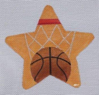 RCHO1369 BASKETBALL STAR CHRISTMAS ORNAMENT by Ray Crawford