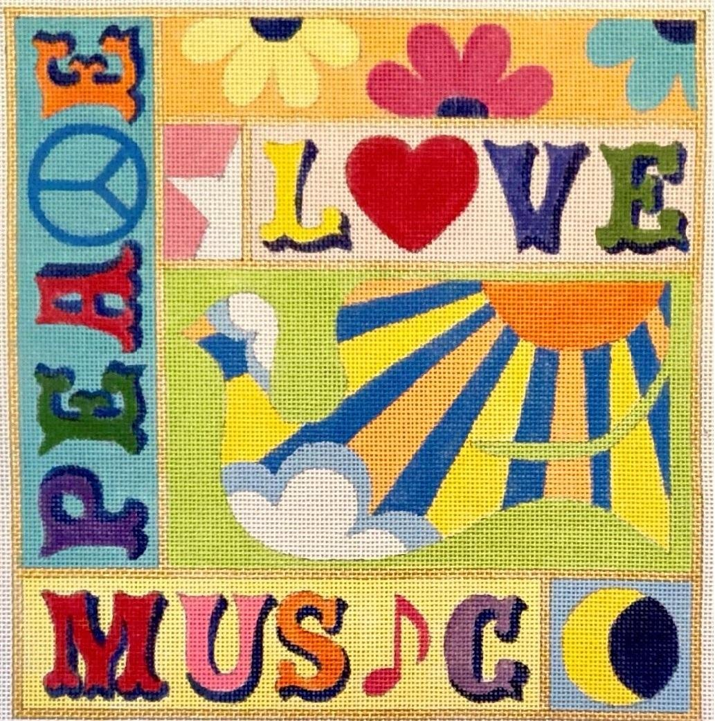 RCH1809A PEACE LOVE AND MUSIC by Ray Crawford