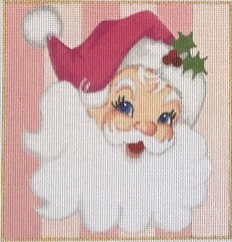 PINK SANTA SQUARE ORNAMENT by Raymond Crawford STITCH GUIDE RCHO1824sg