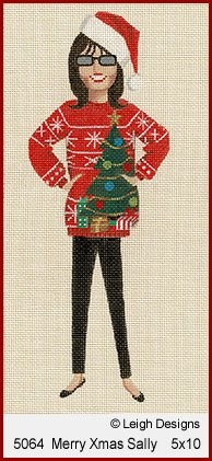 L5064 MERRY CHRISTMAS SALLY by Leigh Designs