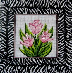 JC241 Zebra Tulips Pillow by j Child